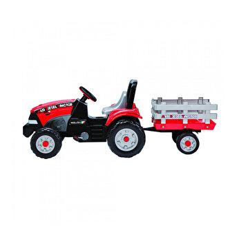 Tractor Maxi Diesel, W/Trailer, rosu/negru