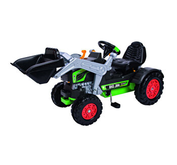 Tractor Big Jim cu pedale cupa si volan interactiv