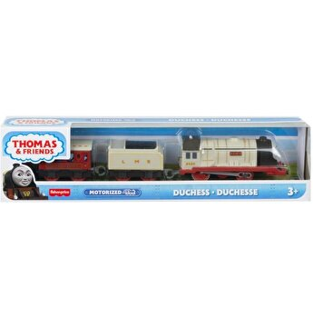Locomotiva Thomas Friends, Ducele, motorizata, cu 2 vagoane si accesorii