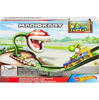 Set de joaca Hot Wheels - Pisa Mario Kart, Planta Pirahna