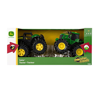John Deere - Set tractorase cu lumini si sunete.