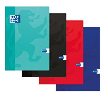 Caiet A4 Oxford School, 60 file, dictando, coperta carton soft, liniat stanga