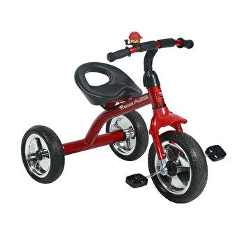 Tricicleta pentru copii, A28, roti mari, Red Black