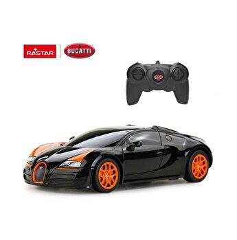 Masina cu telecomanda Bugatti Grand Sport Vitesse, negru, scara 1 la 24