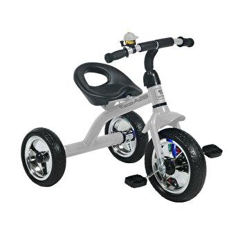 Tricicleta pentru copii, A28, roti mari, Grey