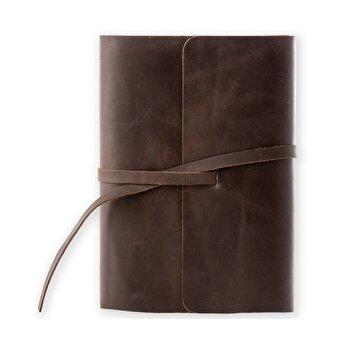 Jurnal piele naturala Vintage, 320 pagini, bloc detasabil, cutie cadou, lucrat manual, maro