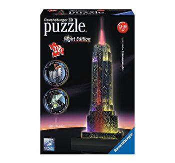 Puzzle 3D - Empire State Building - Editie de noapte, 216 piese