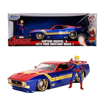 Masinuta metalica Captain Marvel 1972 Ford Mustang Maxh 1, scara 1:24