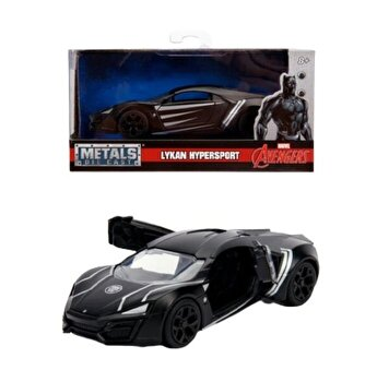 Macheta metalica Marvel Lykan Hypersport, Black Panther, scara 1 la 32