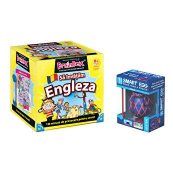 Pachet joc Brainbox Sa invatam Engleza + Smart Egg Bufonul