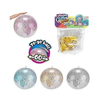 Balon Yo-Yo cu sclipici, 60 cm