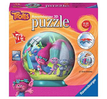 Puzzle 3D - Trolls, 72 piese