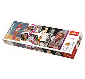 Puzzle Trefl panorama 500 colaj Marilyn Monroe, 500 piese