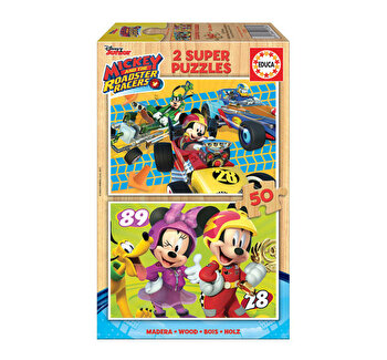 Puzzle Mickey And The Roadster Racers, 2 x 50 piese