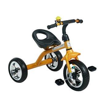 Tricicleta pentru copii, A28, roti mari, Golden Black