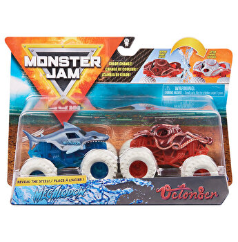 Monster Jam, Set 2 masinute Megalodon si Octonber, color change