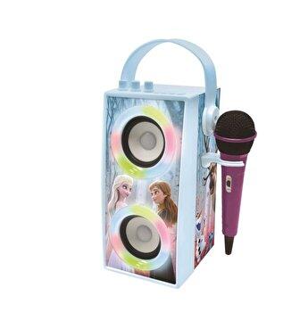 Boxa portabila cu lumini, bluetooth si microfon Frozen