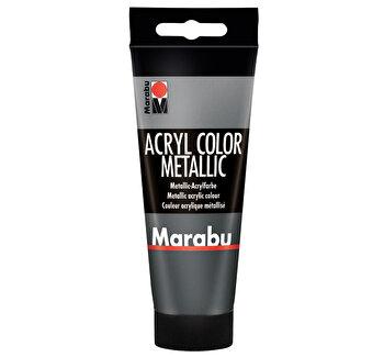 Culoare acrilica Marabu, 100 ml, Antracit Metalizat