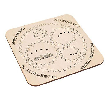 Puzzle 3D Eco Wood Art Spirograph, 6 piese