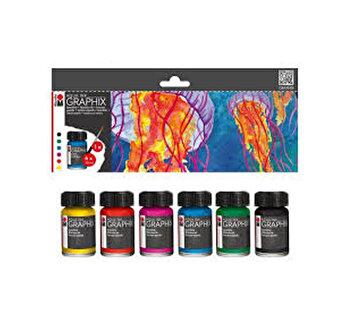 Set pigmenti Aqua Ink Graphix Marabu