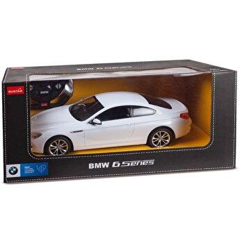 Masina cu telecomanda BMW Seria 6, alb, scara 1 la 14