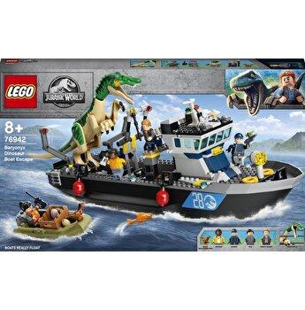 LEGO Jurassic World - Evadarea cu barca a dinozaurului Baryonyx 76942