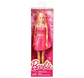 Papusi Barbie, tinute stralucitoare blonda cu rochita roz