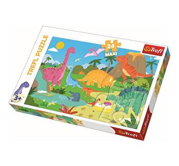 Puzzle Trefl Maxi in lumea dinozaurilor, 24 piese