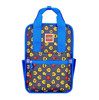 Rucsac Casual LEGO Tribini Fun Small - design Heads and Cup, albastru
