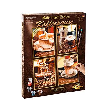 Kit pictura pe numere Schipper Quatro - Pauza de cafea