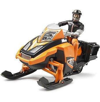 Jucarie Bruder, Leisure Time - Snowmobil cu sofer si accesorii