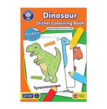Carte de colorat cu activitati in limba engleza si abtibilduri - Dinozaur