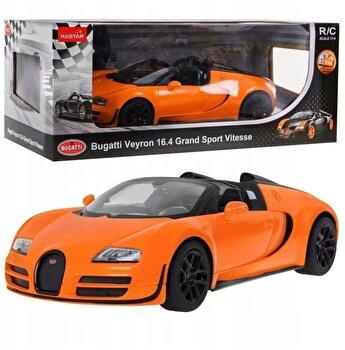 Masina cu telecomanda Bugatti Grand Sport Vitesse, portocaliu, scara 1 la 14