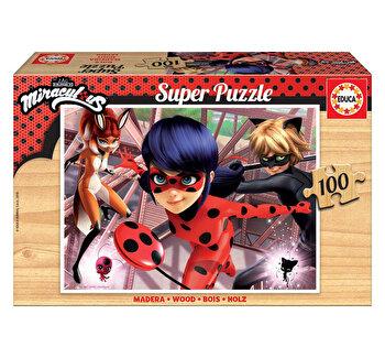 Puzzle Miraculous Ladybug, 100 piese