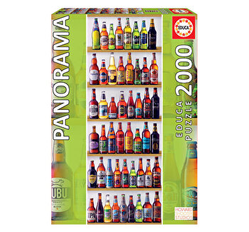 Puzzle World Beers - Panorama, 2000 piese