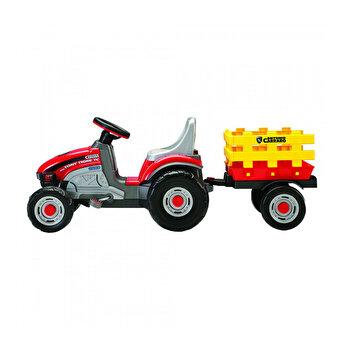 Tractor Mini Tony Tigre, rosu/galben