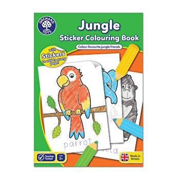 Carte de colorat cu activitati in limba engleza si abtibilduri - Jungla