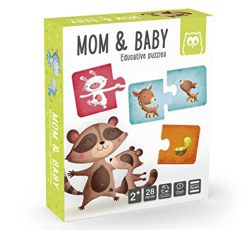 Puzzle educativ Montessori - Mama si puiul
