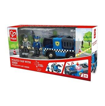 Masina de politie cu sirena