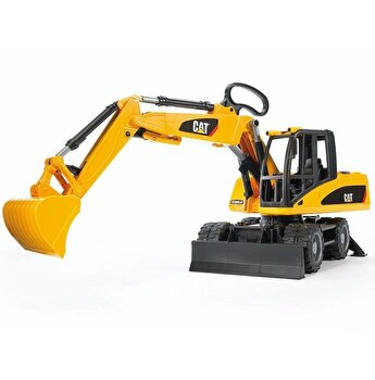 Jucarie Bruder, Construction - Excavator pe roti Cat