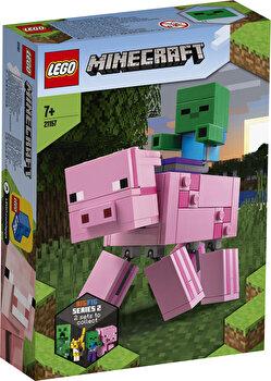 LEGO Minecraft, Porc BigFig cu Bebelus de zombi 21157