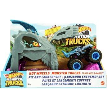 Set de joaca Hot Wheels - Lansatorul monster truck, Team Mega Wrex