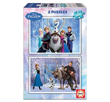 Puzzle Frozen, 2 x 100 piese