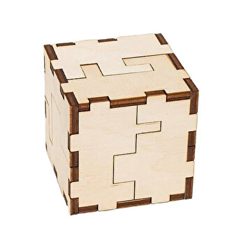 Puzzle 3D Eco Wood Art Cube, 24 piese