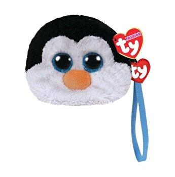 Gentuta de mana, Pinguinul Waddles - plus Ty, 10 cm
