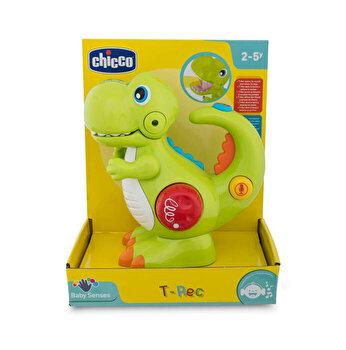 Jucarie Chicco dinozaurul T-Rec, cu inregistrare vocala si lanterna