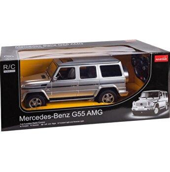 Masina cu telecomanda Mercedes Benz G55, argintiu, scara 1 la 14