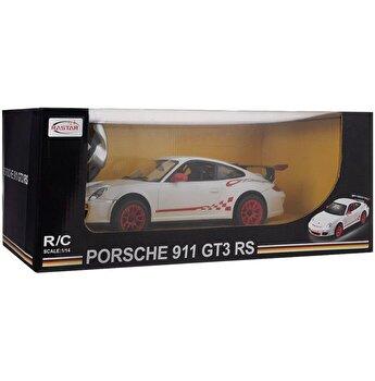 Masina cu telecomanda Porsche GT3, alb, scara 1 la 14