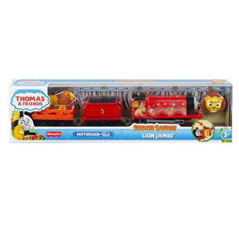 Thomas - Locomotiva motorizata safari, Lion James