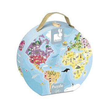 Puzzle Harta lumii, 208 piese
